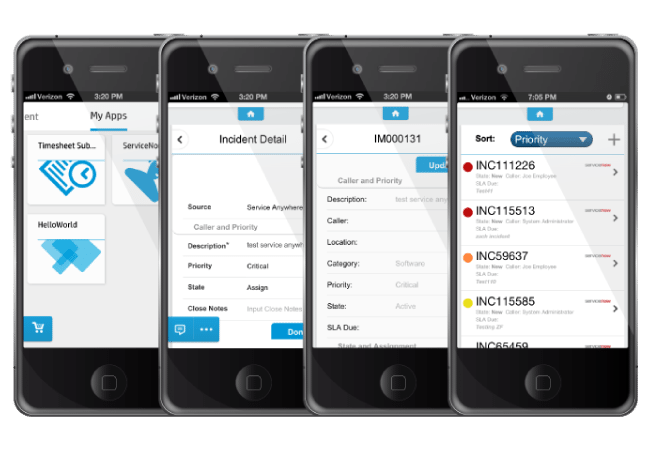 ServiceNow Mobile integration